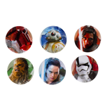 Star Wars Episode VIII Pack 5 Chapas