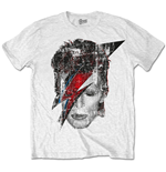 Camiseta David Bowie Halftone Flash Face
