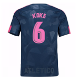 Camiseta 2017/18 Atlético Madrid 2017-2018 Third (Koke 6)