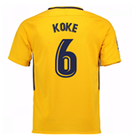 Camiseta 2017/18 Atlético Madrid 2017-2018 Away (Koke 6)