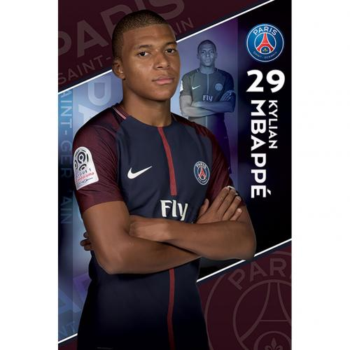 Póster Paris Saint-Germain Mbappe 19