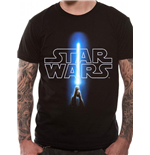Camiseta Star Wars Logo & Saber