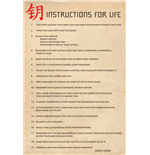 Póster Dalai Lama - Instructions For Life. Maxi Poster
