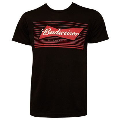 Camiseta Budweiser Red Box Bow Tie Logo