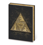 Legend of Zelda Libreta A5 Metal TriForce