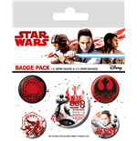 Star Wars Episode VIII Pack 5 Chapas Resist