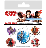 Star Wars Episode VIII Pack 5 Chapas Icons