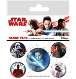 Star Wars Episode VIII Pack 5 Chapas Characters