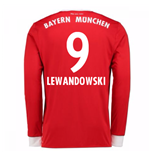 Camiseta Manga Larga 2017/18 Bayern de Munich Home (Lewandowski 9)