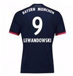 Camiseta 2017/18 Bayern de Munich Away (Lewandowski 9) de niño