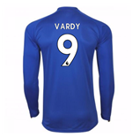 Camiseta Manga Larga 2017/18 Leicester City F.C. Home (Vardy 9)