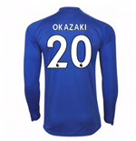 Camiseta Manga Larga 2017/18 Leicester City F.C. Home (Okazaki 20)