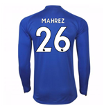 Camiseta Manga Larga 2017/18 Leicester City F.C. Home (Mahrez 26)