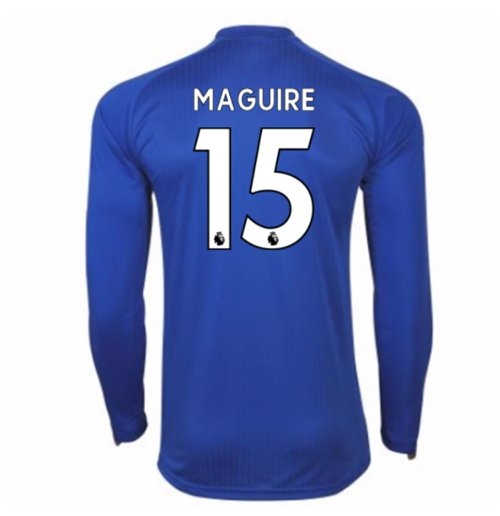 Camiseta Manga Larga 2017/18 Leicester City F.C. Home (Maguire 15)