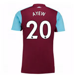 Camiseta 2017/18 West Ham United 2017-2018 Home (Ayew 20) de niño