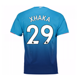 Camiseta 2017/18 Arsenal 2017-2018 Away (Xhaka 29) de niño