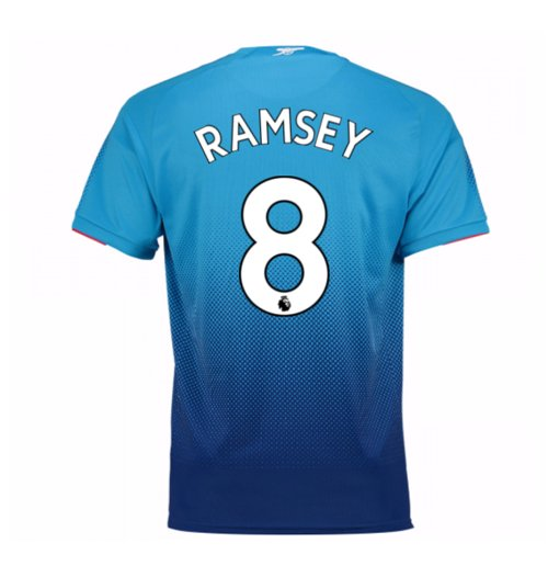 Camiseta 2017/18 Arsenal 2017-2018 Away (Ramsey 8) de niño