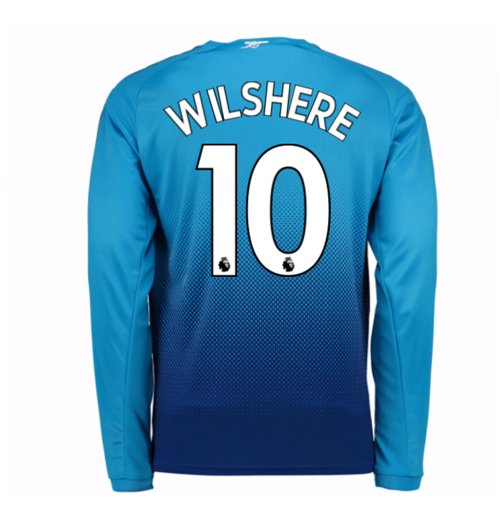 Camiseta Manga Larga 2017/18 Arsenal 2017-2018 Away (Wilshere 10) de niño
