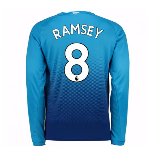Camiseta Manga Larga 2017/18 Arsenal 2017-2018 Away (Ramsey 8)