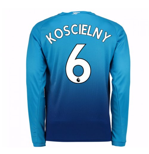 Camiseta Manga Larga 2017/18 Arsenal 2017-2018 Away (Koscielny 6)