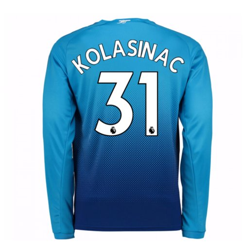 Camiseta Manga Larga 2017/18 Arsenal 2017-2018 Away (Kolasinac 31) de niño