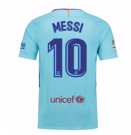 Camiseta 2017/18 FC Barcelona 2017-2018 Away (Messi 10)
