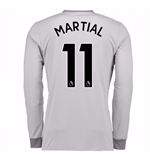 Camiseta Manga Larga Manchester United FC 2017-2018 Third (Martial 11)