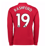 Camiseta Manga Larga Manchester United FC 2017-2018 Home (Rashford 19)
