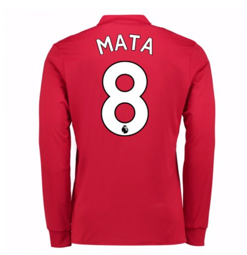 Camiseta Manga Larga Manchester United FC 2017-2018 Home (Mata 8)
