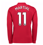 Camiseta Manga Larga Manchester United FC 2017-2018 Home (Martial 11)