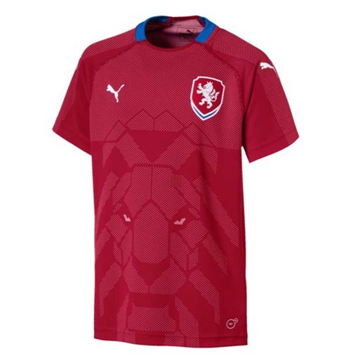 Camiseta Republica Checa Fútbol 2018-2019 Home de niño