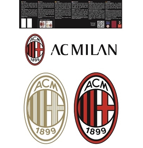 Vinilo decorativo para pared AC Milan