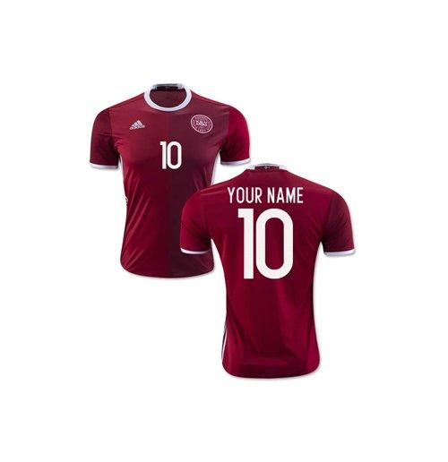 dfad2ea0d Camiseta 2018 19 Dinamarca Fútbol 2016-2017 Home personalizable de niño
