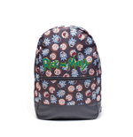 Mochila Rick and Morty Logo and Big Faces