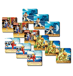Street Fighter Pack de 4 Posavasos 3D Team