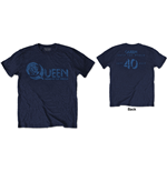 Camiseta Queen - News of the World 40th Vintage Logo