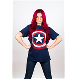 Camiseta Marvel Superheroes de hombre - Design: Captain America Distressed Shield