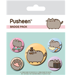 Pusheen Pack 5 Chapas Fancy