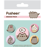 Pusheen Pack 5 Chapas Pusheen Says Hi