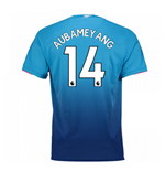 Camiseta 2017/18 Arsenal 2017-2018 Away (Aubameyang 14) de niño