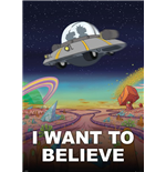 Póster Grande Rick and Morty - I Want To Believe - 100x140 Cm