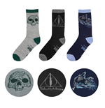 Harry Potter Pack de 3 Pares de calcetines Deathly Hallows