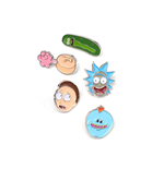 Rick y  Morty Pack 5 Chapas Characters