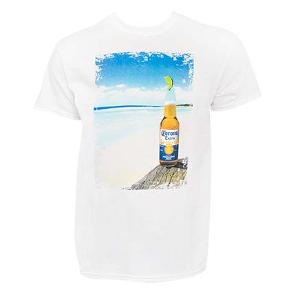 Camiseta Coronita Bottle Beach Scene