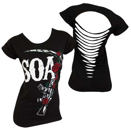 Camiseta Sons of Anarchy Roses Ripped  de mujer