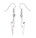 Harry Potter Pendientes Lightning Bolt (plateado)