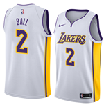 Camiseta Los Angeles Lakers Lonzo Ball Nike Association Edition Réplica