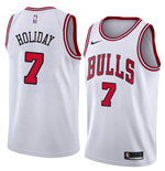 Camiseta Chicago Bulls Justin Holiday Nike Association Edition Réplica