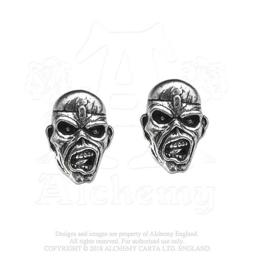 Pendientes Iron Maiden - Design: Piece of Mind Eddie