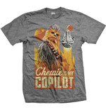 Camiseta Star Wars de hombre - Design: Solo Chewie Co-Pilot